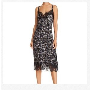 REBECCA TAYLOR Zelma Sleeveless Silk Lace Slipdres